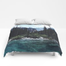 Glacier Creek, Moraine lake Banff Comforters
