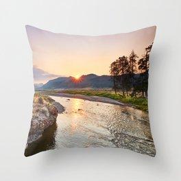 Soda Butte Creek Throw Pillow