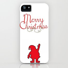 Merry Christmas with Santa iPhone Case