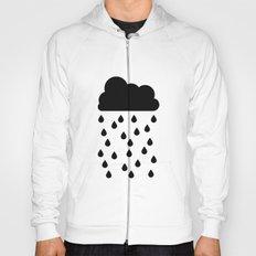 Black Cloud and Raindrops Hoody