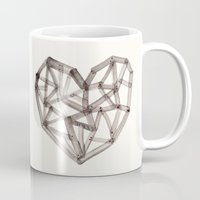 wooden Mugs featuring Wooden Heart by Picomodi