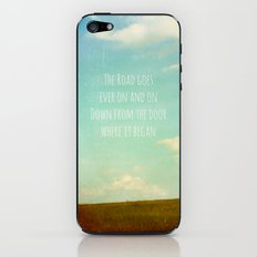 the road goes ever on iPhone & iPod Skin