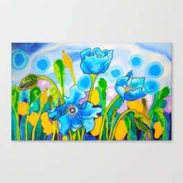 Blue Poppies 1 of Belize Canvas Print
