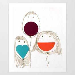 Kids. Art Print