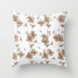 Hydrangea floral Throw Pillow
