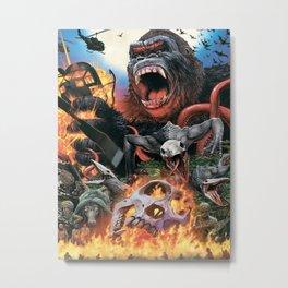Godzilla-King Kong 03 Metal Print
