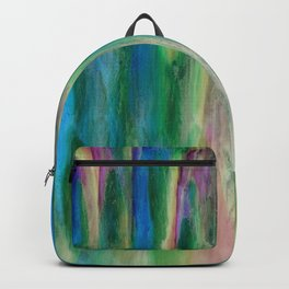The Cavern in Shades of Blue, Green and Pink Backpack