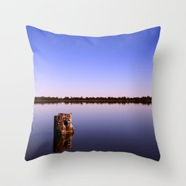 All Quiet on Lake Bonney Throw Pillow