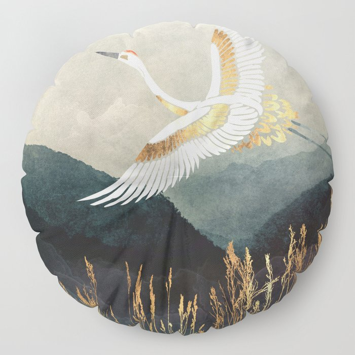 Elegant Flight Floor Pillow