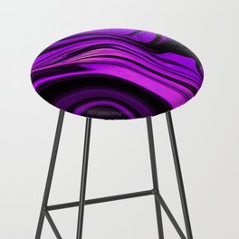 Purple Abstract Desgn Artwork Bar Stool