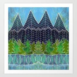 Magical Mountain Forest Art Print