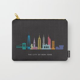 New York Skyline Empire State Poster Black Carry-All Pouch