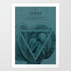 A Terme - MINIMALIST POSTER Art Print