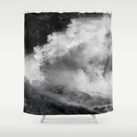 power Shower Curtains featuring Power by Harry Mark
