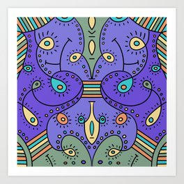 Abstracted Peacock Art Print