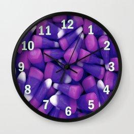 Zombies Love Candy Corn Wall Clock