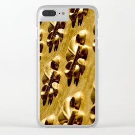 Parisian Gold Fluer De Lis Embossed Design Clear iPhone Case