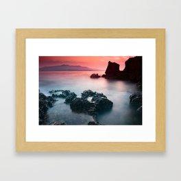 Sunset at sea VII Framed Art Print