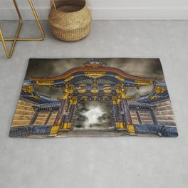 The Main Gate at Nijo Castle Abstract Rug