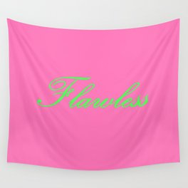 Flawless Pink & Green Wall Tapestry