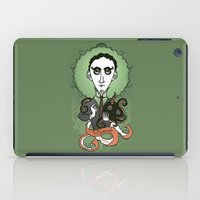 lovecraft iPad Cases featuring Lovecraft Holy Writer by roberto lanznaster