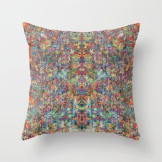 Acid Rain (Reflected) Throw Pillow