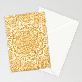 Yellow mandala pattern Stationery Cards