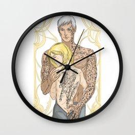 scars & tattoos Wall Clock