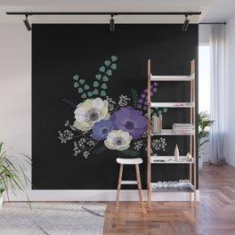 Anemones bouquet Wall Mural