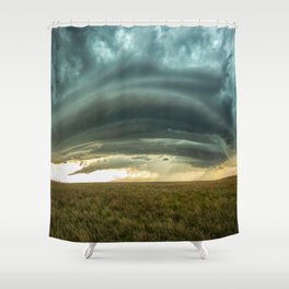 Filling the Void - Layered Storm in Western Nebraska Shower Curtain