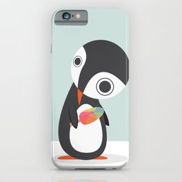 Pingu Loves Icecream iPhone Case