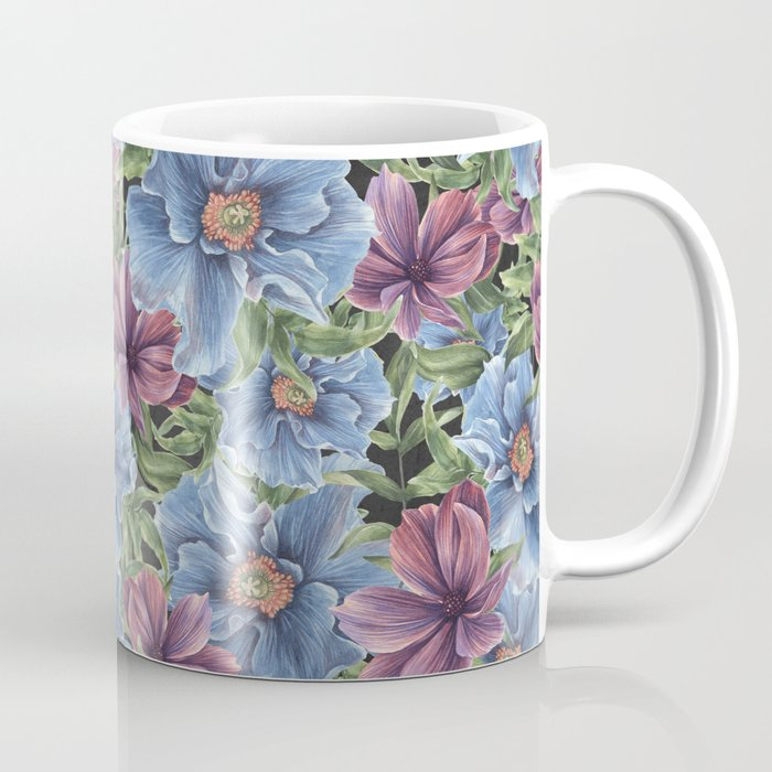 Hibiscus Flowers on Chalkboard Coffee Mug