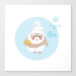 Scrub a Dub Dub Gnome Canvas Print