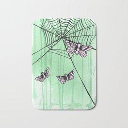 pink moths Bath Mat