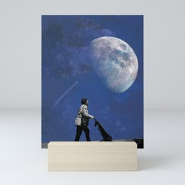 Shopping to the Moon and back Mini Art Print