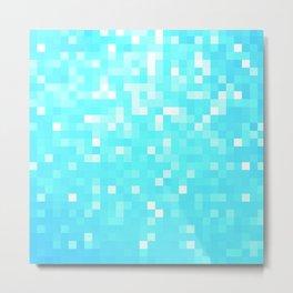 turquoise Pixel Sparkle Metal Print