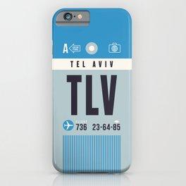 Baggage Tag A - TLV Tel Aviv Israel iPhone Case