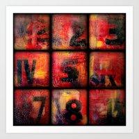 numbers Art Prints featuring Numbers by Liz Moran