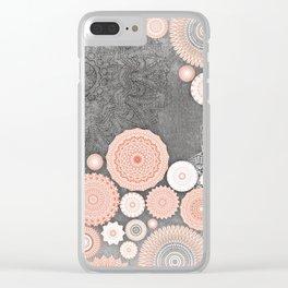FESTIVAL FLOW BLUSH SUNSHINE Clear iPhone Case