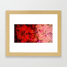 Two Different Worlds -- Floral Pattern Framed Art Print