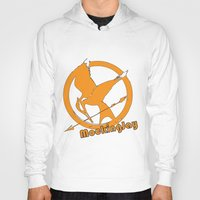mockingjay Hoodies featuring MockingJay by Marc Koster