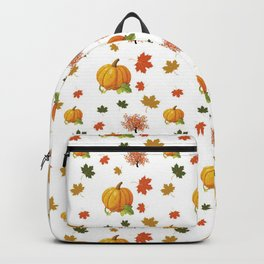 Cozy Autumn Harvest Pattern Backpack