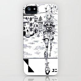 Anime girl scenery iPhone Case