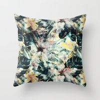 hibiscus Throw Pillows featuring Hibiscus by RIZA PEKER
