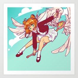 Sakura flying Art Print