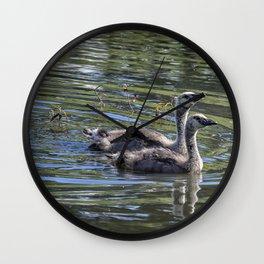 Two Goslings Taking a Swim, No. 2 Wall Clock