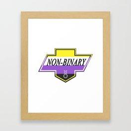 Identity Stamp: Non Binary Framed Art Print