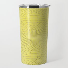 Metal wires on yellow surface Travel Mug
