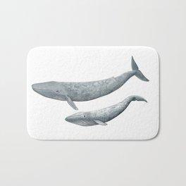 Blue whales (Balaenoptera musculus) - Blue whale Bath Mat