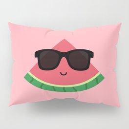 Cool Watermelon with Black Sunglasses Pillow Sham